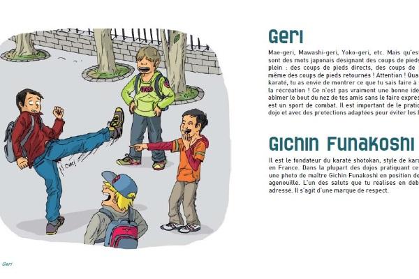 Définition et illustration du livre « le P'tit abc du karaté »